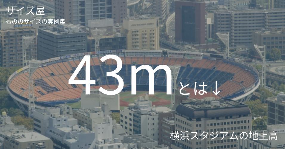 43mとは「横浜スタジアムの地上高」くらいの高さです