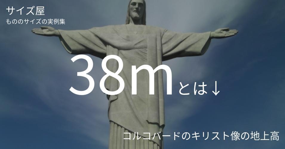 38mとは「コルコバードのキリスト像の地上高」くらいの高さです