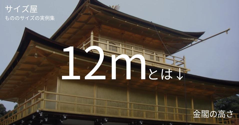 12mとは「金閣の高さ」くらいの高さです
