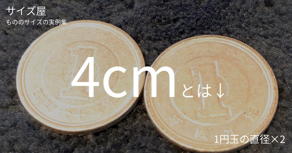4cmとは「1円玉の直径×2」くらいの高さです