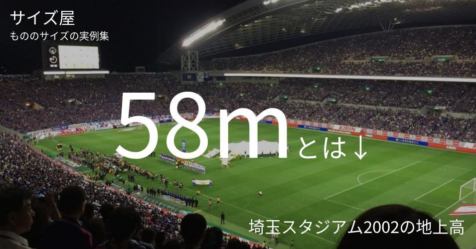 58mとは「埼玉スタジアム2002の地上高」くらいの高さです