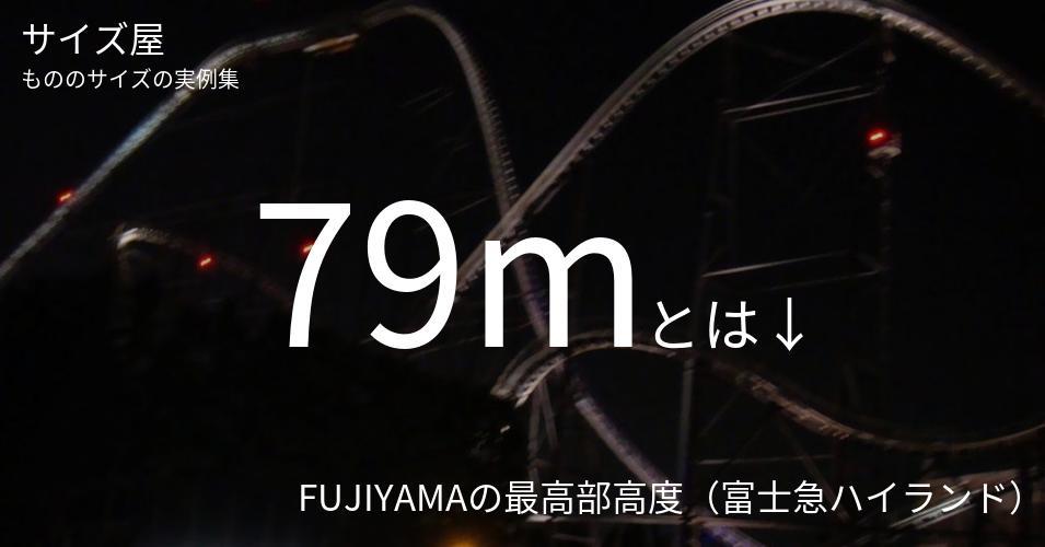 79mとは「FUJIYAMAの最高部高度(富士急ハイランド)」くらいの高さです