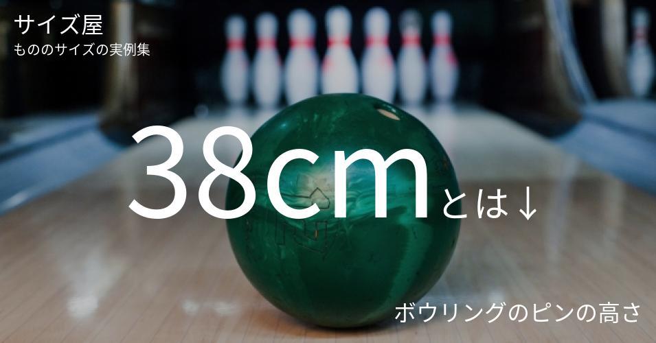 38cmとは「ボウリングのピンの高さ」くらいの高さです