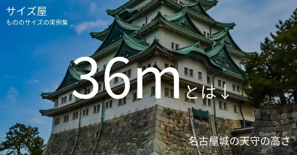36mとは「名古屋城の天守の高さ」くらいの高さです