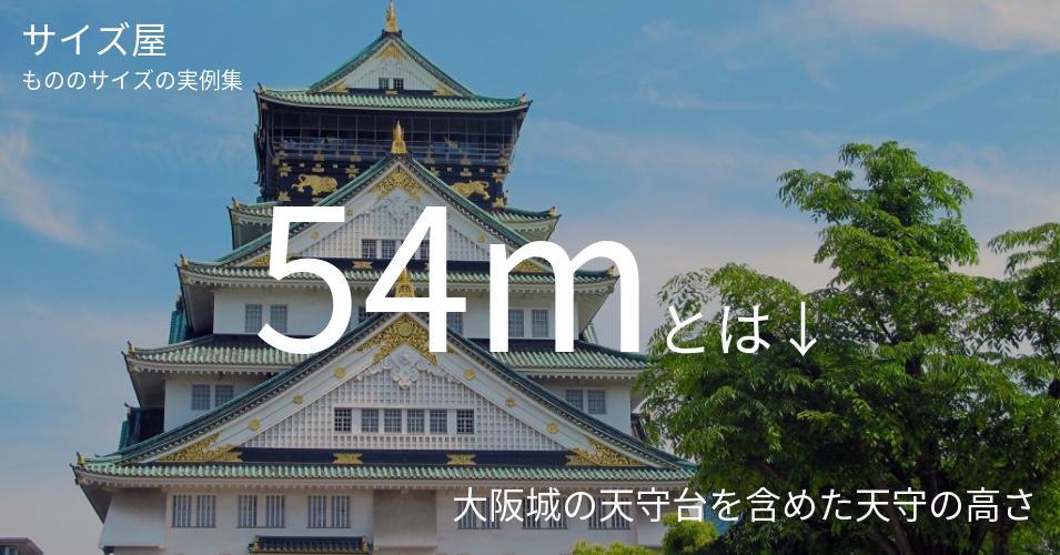 54mとは「大阪城の天守台を含めた天守の高さ」くらいの高さです