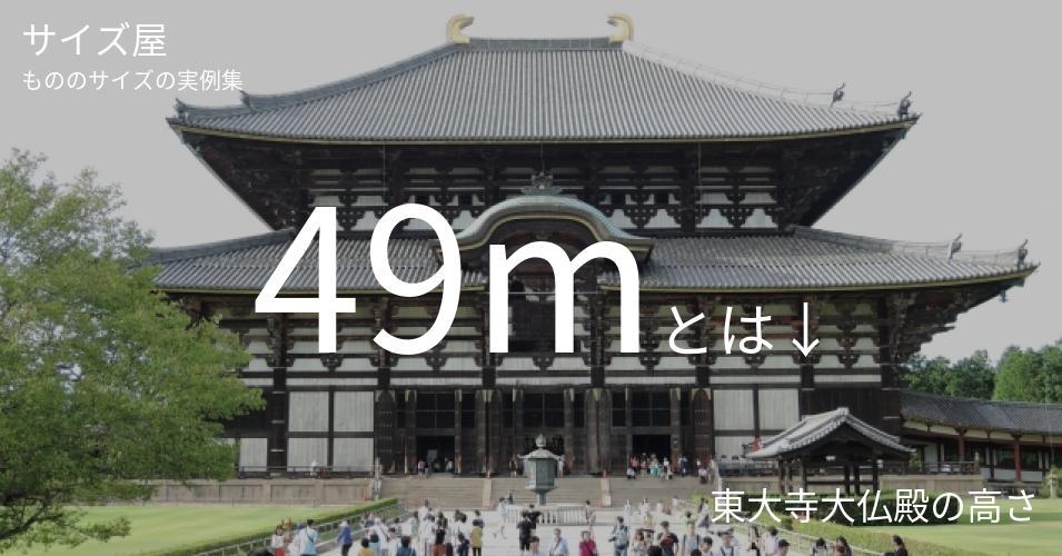 49mとは「東大寺大仏殿の高さ」くらいの高さです