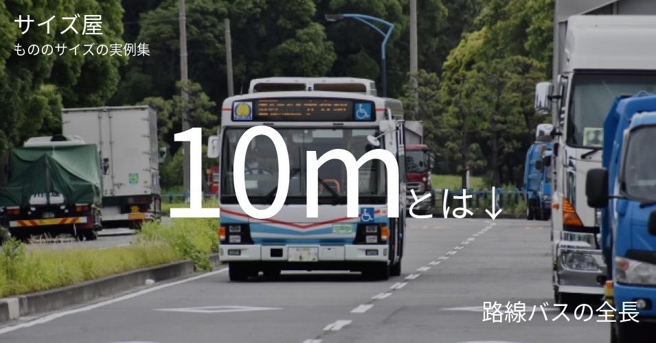 10mとは「路線バスの全長」くらいの高さです