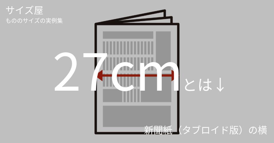 27cmとは「新聞紙(タブロイド版)の横」くらいの高さです