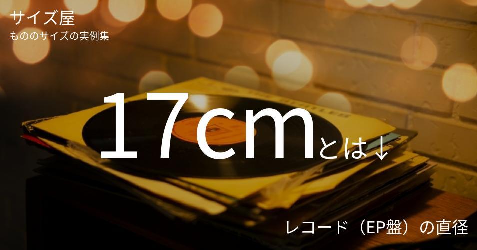 17cmとは「レコード(EP盤)の直径」くらいの高さです