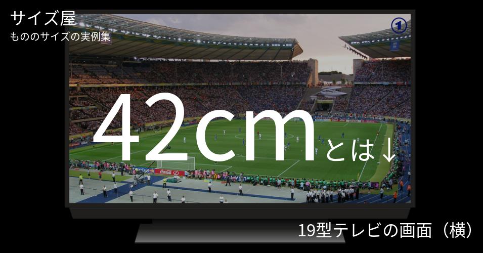 42cmとは「19型テレビの画面(横)」くらいの高さです