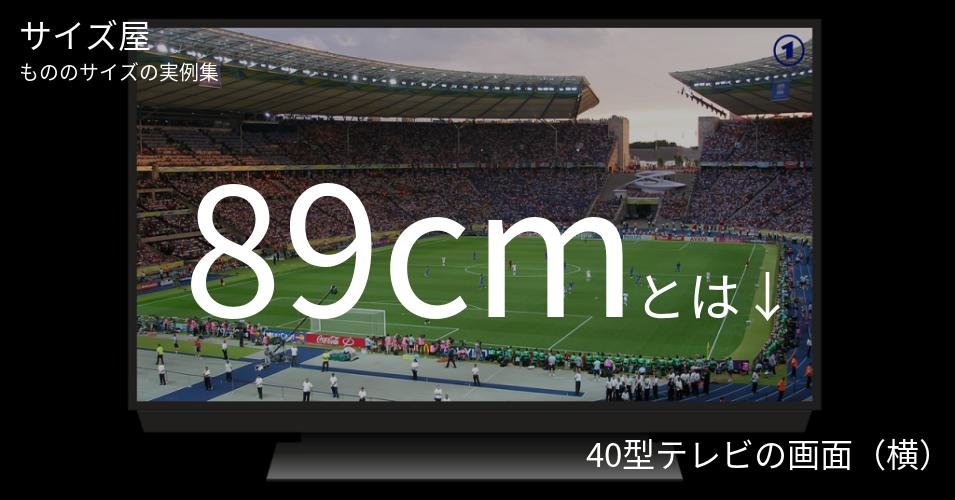 89cmとは「40型テレビの画面(横)」くらいの高さです