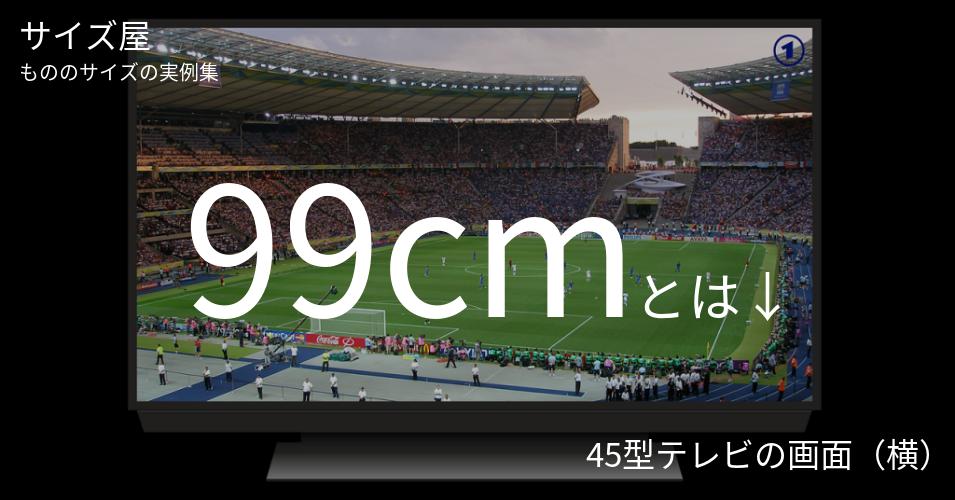 99cmとは「45型テレビの画面(横)」くらいの高さです