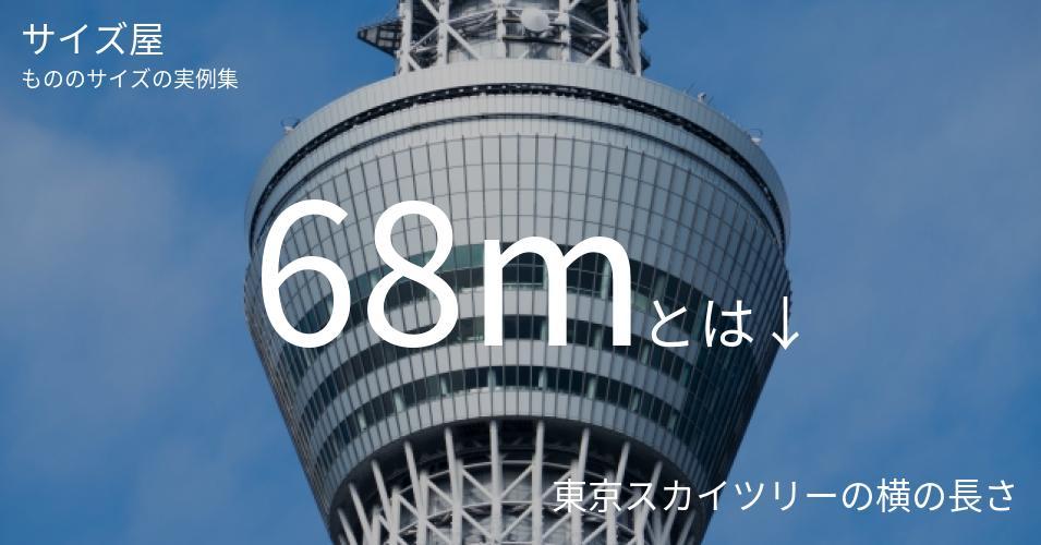 68mとは「東京スカイツリーの横の長さ」くらいの高さです
