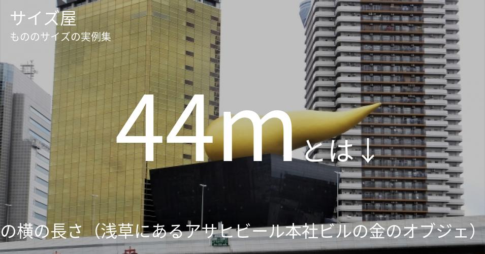 44mとは「フラムドールの横の長さ(浅草にあるアサヒビール本社ビルの金のオブジェ)」くらいの高さです