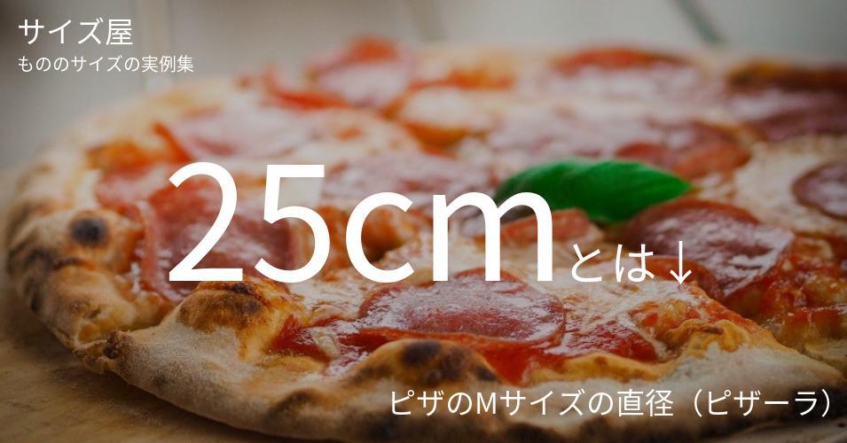 25cmとは「ピザのMサイズの直径(ピザーラ)」くらいの高さです