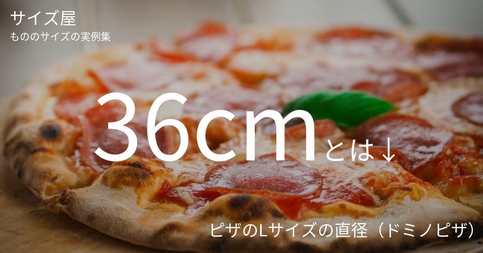 36cmとは「ピザのLサイズの直径(ドミノピザ)」くらいの高さです