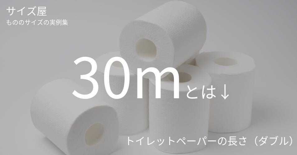 30mとは「トイレットペーパーの長さ(ダブル)」くらいの高さです