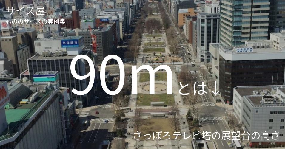 90mとは「さっぽろテレビ塔の展望台の高さ」くらいの高さです