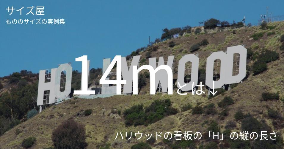 14mとは「ハリウッドの看板の「H」の縦の長さ」くらいの高さです