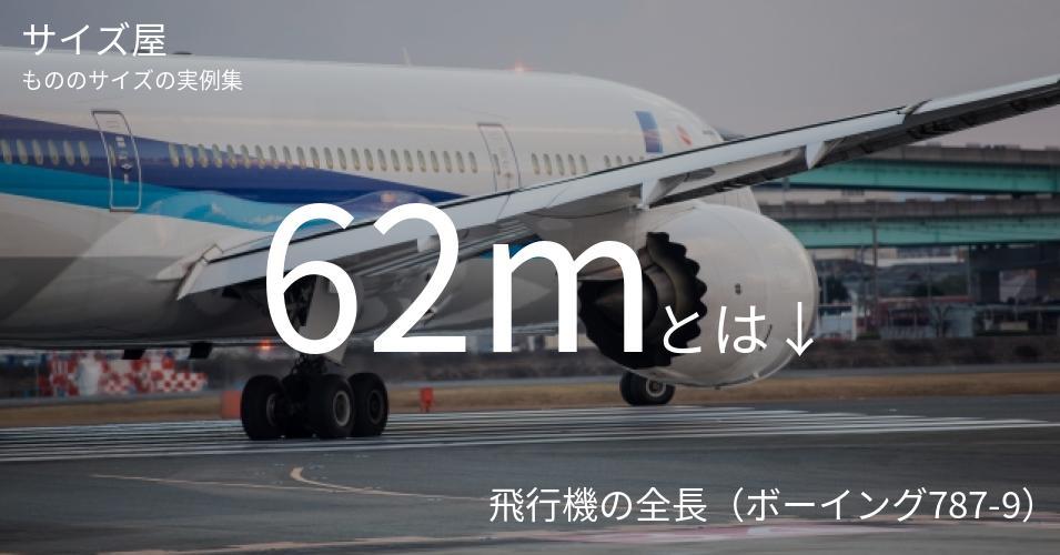 62mとは「飛行機の全長(ボーイング787-9)」くらいの高さです