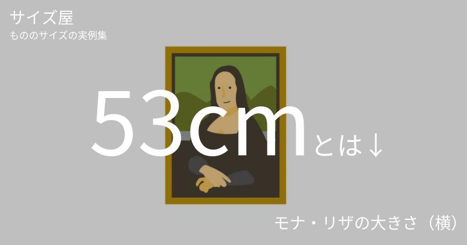 53cmとは「モナ・リザの大きさ(横)」くらいの高さです