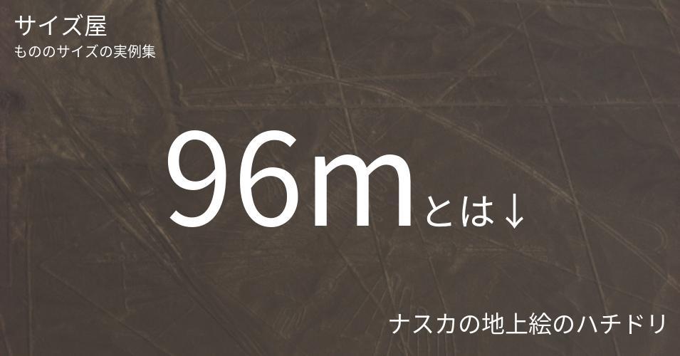 96mとは「ナスカの地上絵のハチドリ」くらいの高さです