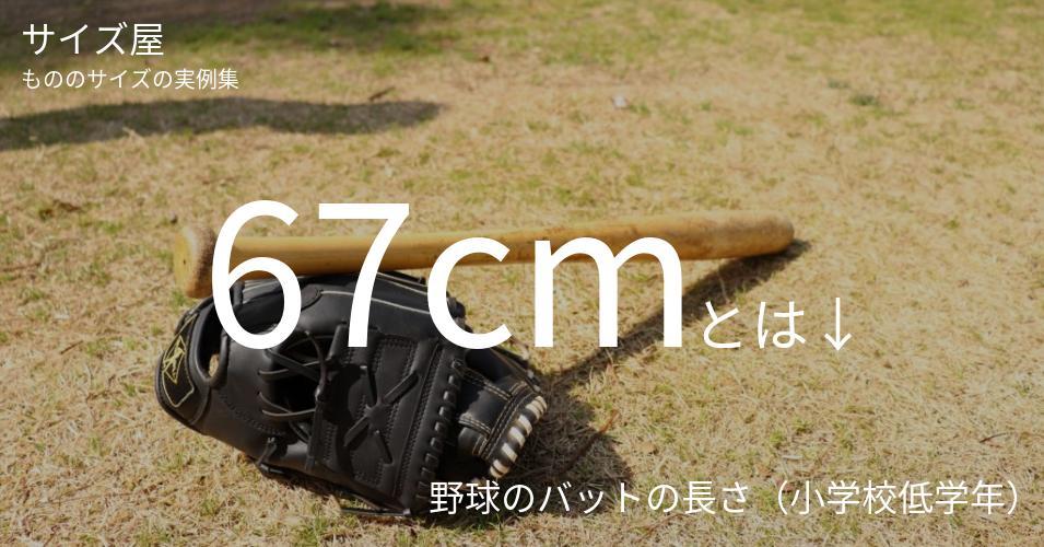 67cmとは「野球のバットの長さ(小学校低学年)」くらいの高さです
