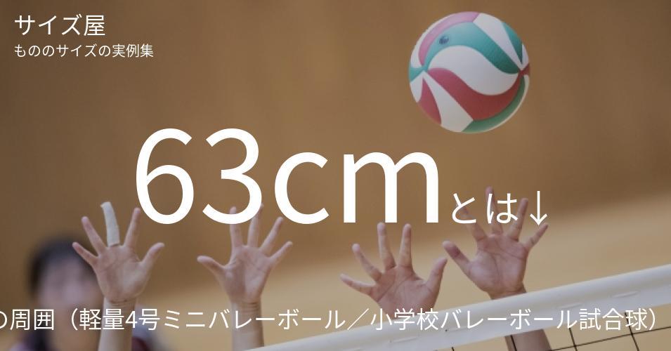 63cmとは「バレーボールの周囲(軽量4号ミニバレーボール/小学校バレーボール試合球)」くらいの高さです