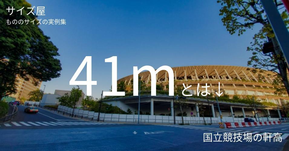 41mとは「国立競技場の軒高」くらいの高さです
