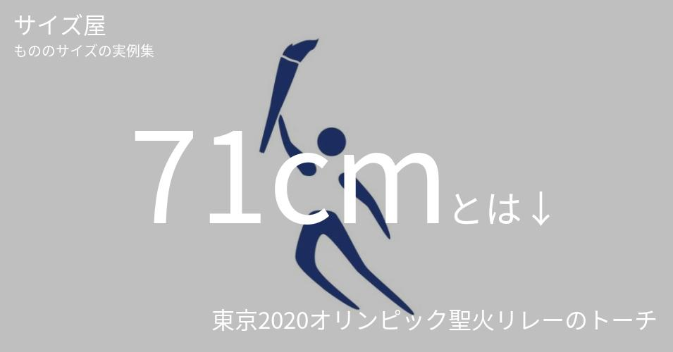 71cmとは「東京2020オリンピック聖火リレーのトーチ」くらいの高さです
